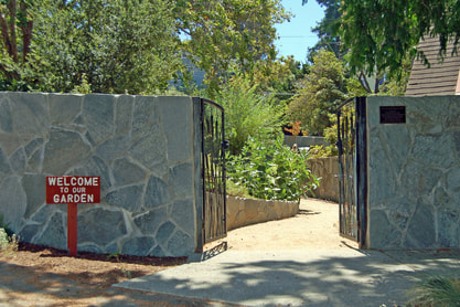 Picture of entrance to the Sacred Hoop Garden